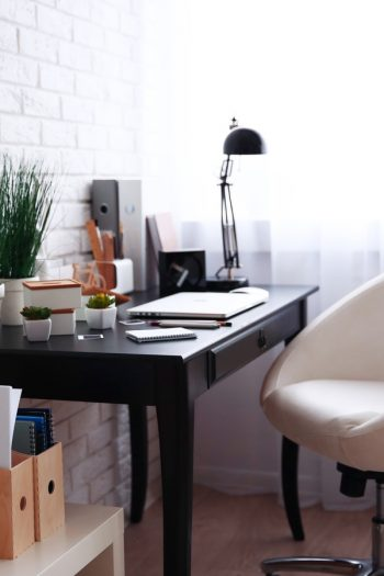 Here are some smart ways to keep your office organized. Use some or all of these office organizing hacks to keep on top of your stuff, your tasks, and everything office-related. Try hiding your cords under your tables and on the back of your desk legs.