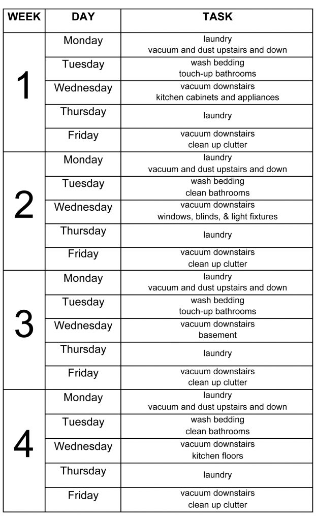 10 of the Most Brilliant Cleaning Schedules to Help You Manage Life