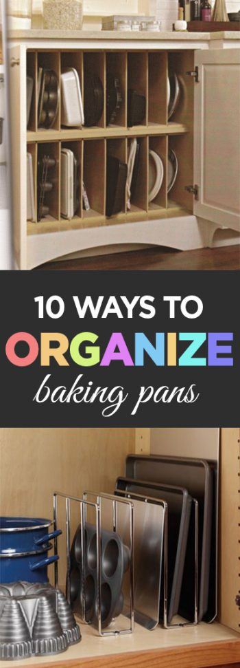 Baking pans, organize baking pans, kitchen organization, popular post, easy organizing, organized home, DIY kitchen organization, DIY easy organization, storage methods.