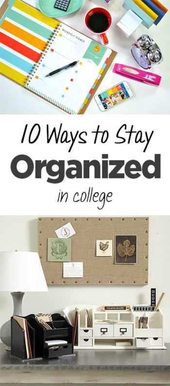 College, staying organized in college, college organization, DIY organization, college life, popular pin, college living, campus organization, dorm room hacks, small space living, small space organization.