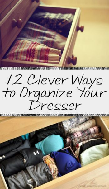 Dresser organization, DIY clothes organization, popular pin, small closet organization, organization hacks, home organization, storage hacks, DIY storage.