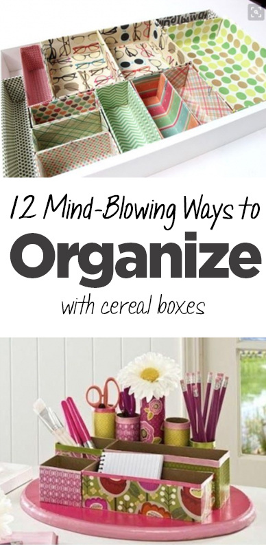 Cereal box organization, organizing with cereal boxes, organization, cereal boxes, DIY cereal boxes, popular pin, DIY organization, home organization, easy organization.