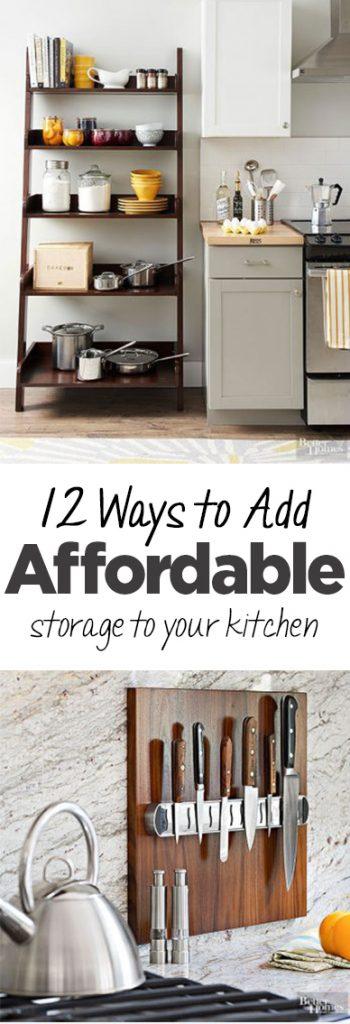 12 Ways To Add Affordable Storage To Your Kitchen Organization Junkie