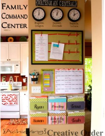 If you don't have a command center in your home, you are missing out on some awesome organization! These command center ideas help you keep track of important documents, dates, items, and so much more.
