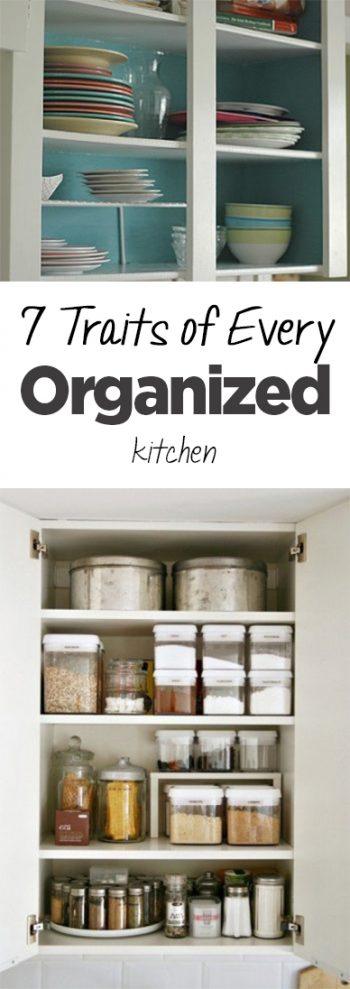 Organized kitchen, organized kitchen traits, kitchen organization, popular pin, DIY pantry organization, pantry, home decor, home organization, DIY home organization.