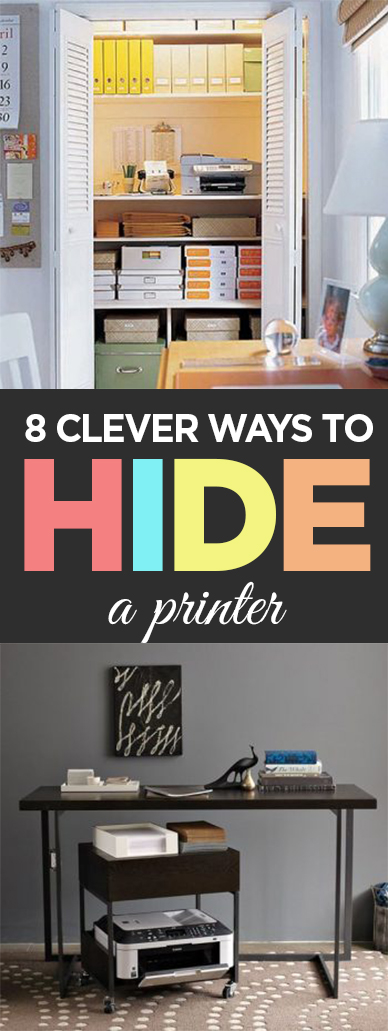 How to hide a printer, hide a printer, hide the eyesores, home decor, DIY home decor, popular pin, home organization, home organization ideas.