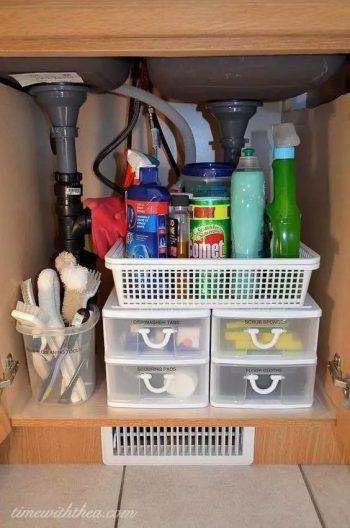 8 Easy Ways to Organize Under the Sink3