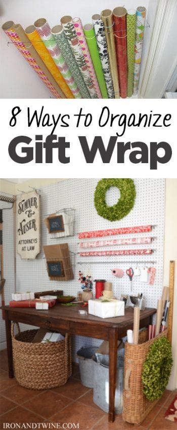 gift wrap organization, organize gift wrap, popular pin, organization, DIY organization, craft room, craft room organization, home organization, DIY craft room.