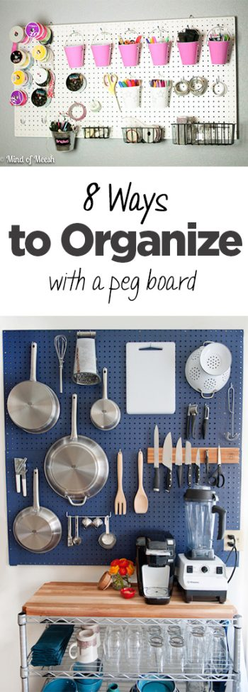 Organization, peg board DIY, peg board projects, organizing with peg boards, popular pin, DIY organization, easy home organization, home upgrades, easy home upgrades.