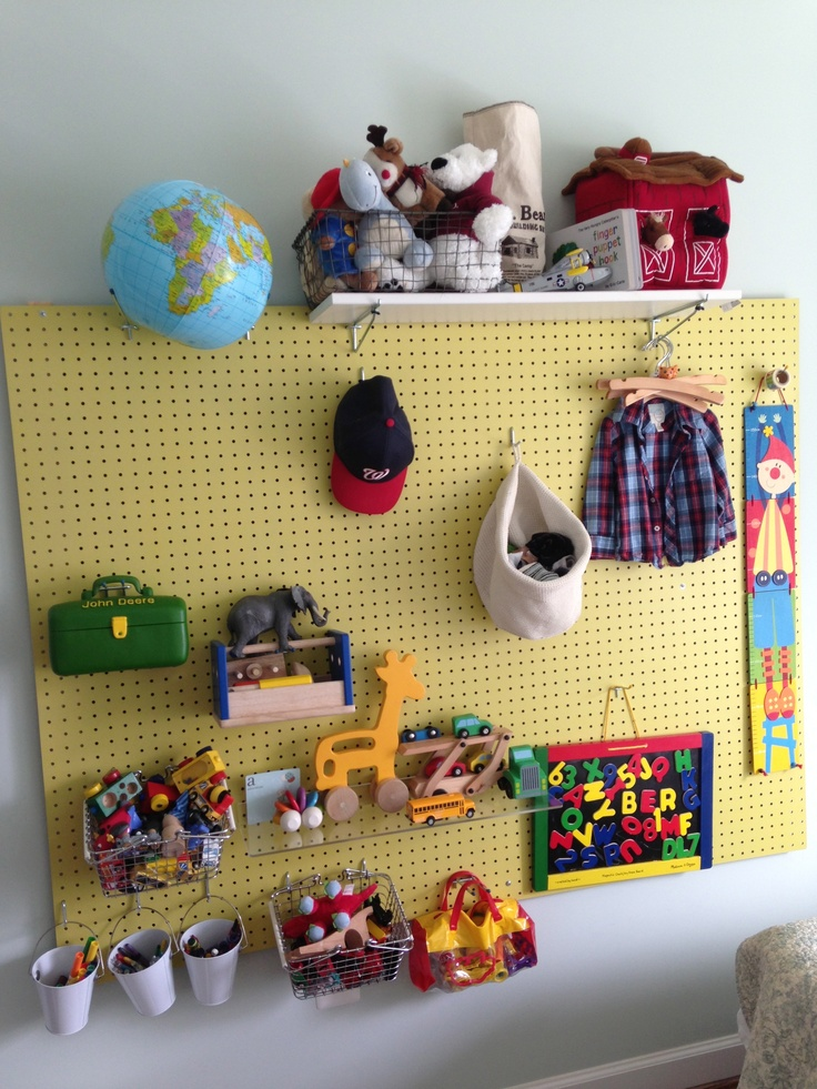 8 Ways to Organize With a Peg Board5