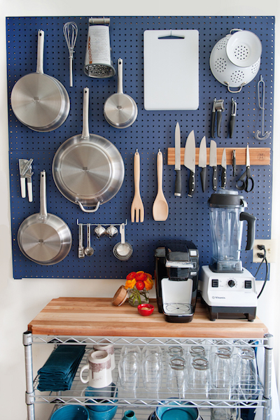 8 Ways to Organize With a Peg Board7