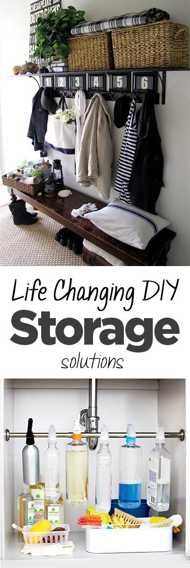 DIY storage, storage solutions, easy storage solutions, popular pin, DIY organization, home storage.