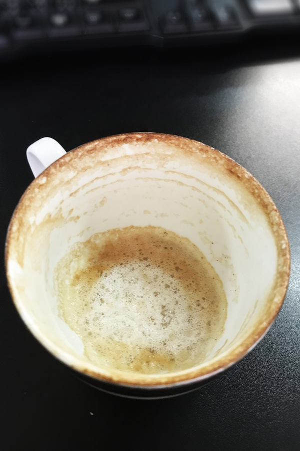 coffee stains are another of the magic eraser uses in a home.