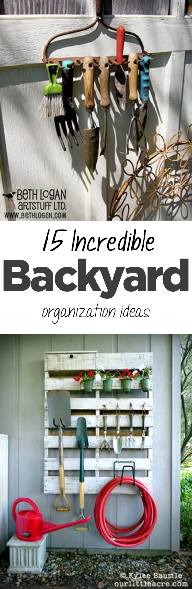 15 incredible backyard organization ideas page 2 of 16 for Patio organization ideas