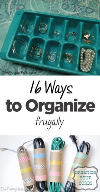 Frugal organization, frugal living, frugality, popular pin, organization, DIY organization, small space organization, home organization.