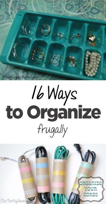 Frugal organization, frugal living, frugality, popular pin, organization, DIY organization, small space organization, home organization.