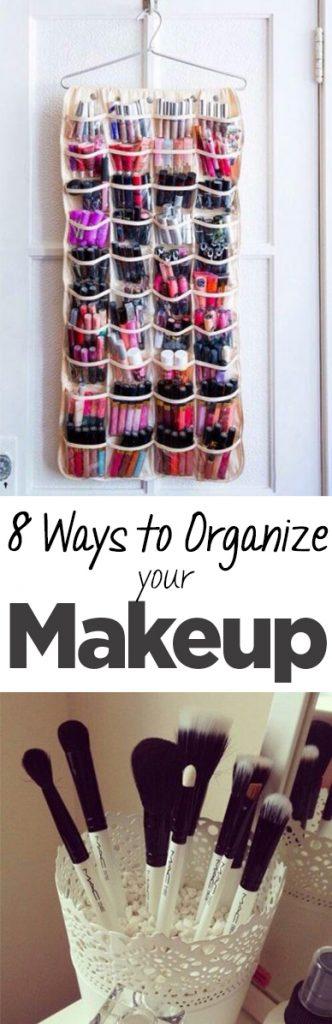 Organize makeup, how to organize makeup, home organization, beauty, beauty hacks, popular pin, DIY makeup organization, organized bathroom, bathroom organization.