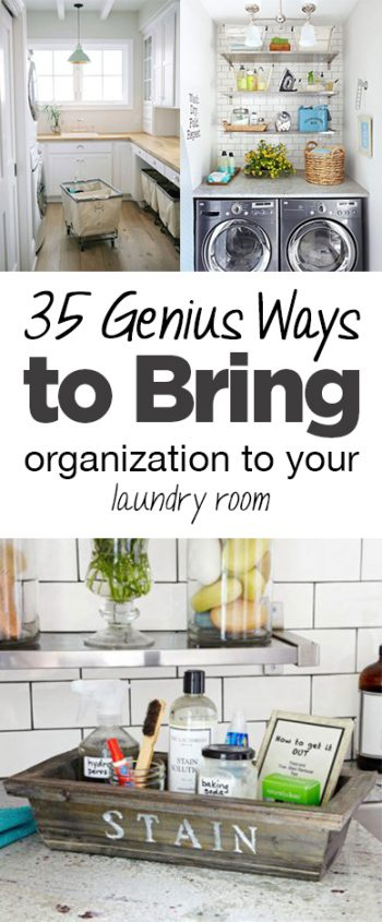 35 Genius Ways to Bring Organization to Your Laundry Room