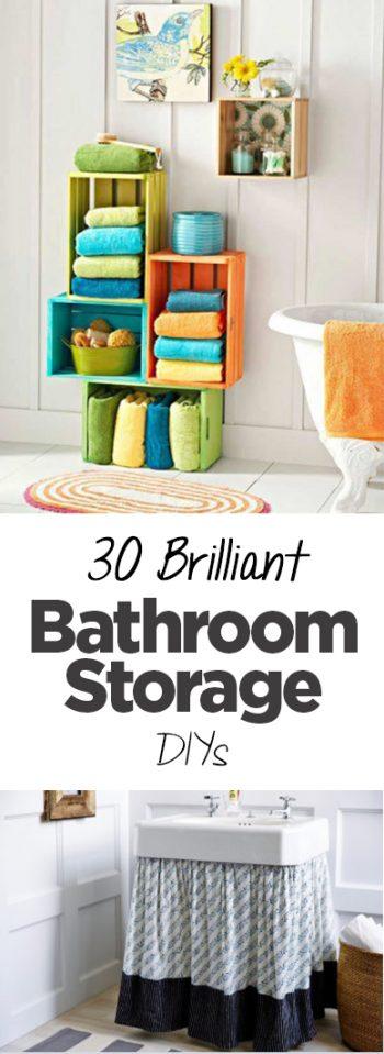 30 Brilliant Bathroom Storage DIYs