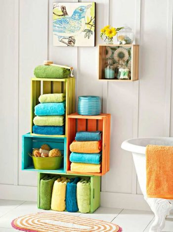 30 Brilliant Bathroom Storage DIYs4