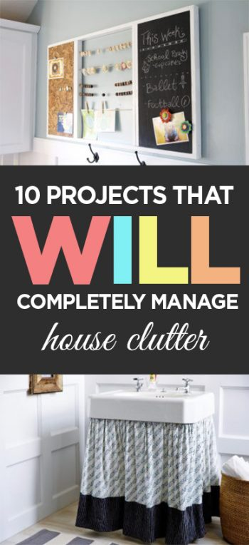 10 Projects that Will Completely Manage House Clutter