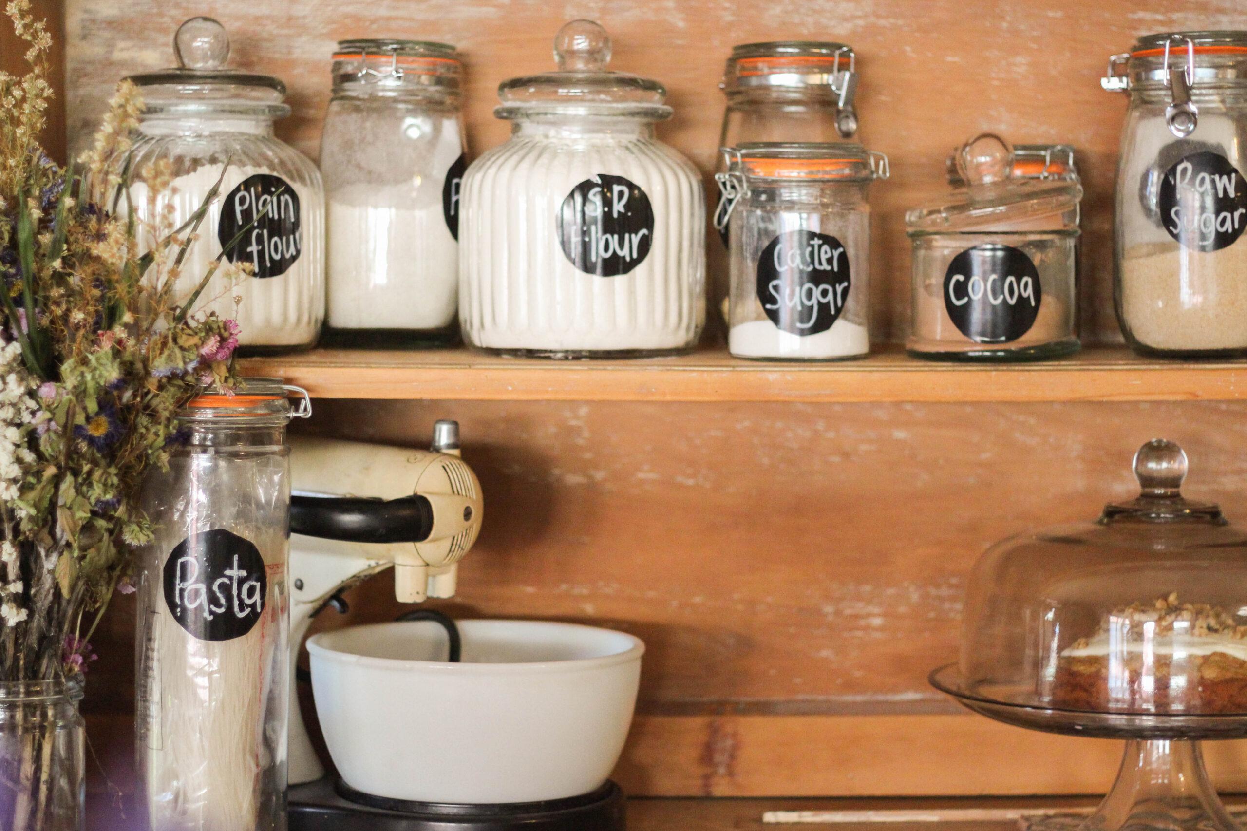 Kitchen pantry organization ideas using labels