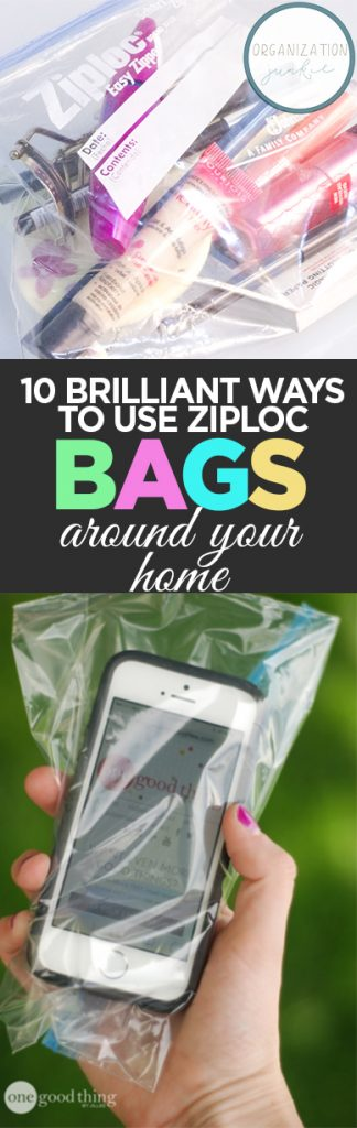 Ziploc Bags, Uses for Ziploc Bags, How to Use Ziploc Bags, Ziploc, How to Use Ziploc Bags Around the House, Cleaning Tips and Tricks, Organization Hacks, Clever Ways to Organize, Easy Home Organization, Popular Pin
