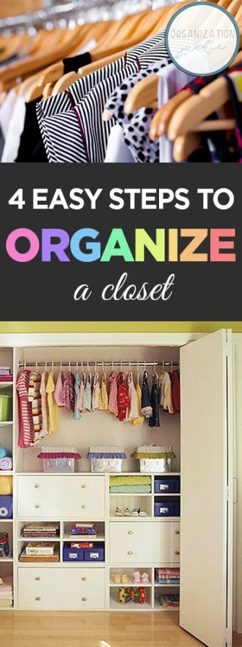 How to Organize A Closet, Small Closet Organization, How to Organize A Closet Quickly, Small Space Organization, Easy Home Organization, Easy Closet Organization, Closet Storage, Closet Storage Ideas, Popular Pin.