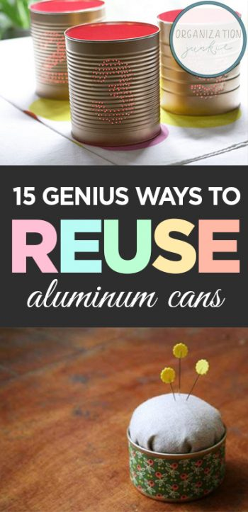 How to Reuse Tin Cans, Things to Do with Tin Cans, Tin Can Crafts, Aluminum Can Crafts, Soda Cans, Things to Do With Soda Cans, How to Reuse Soda Cans, Repurpose Projects, Popular Pin