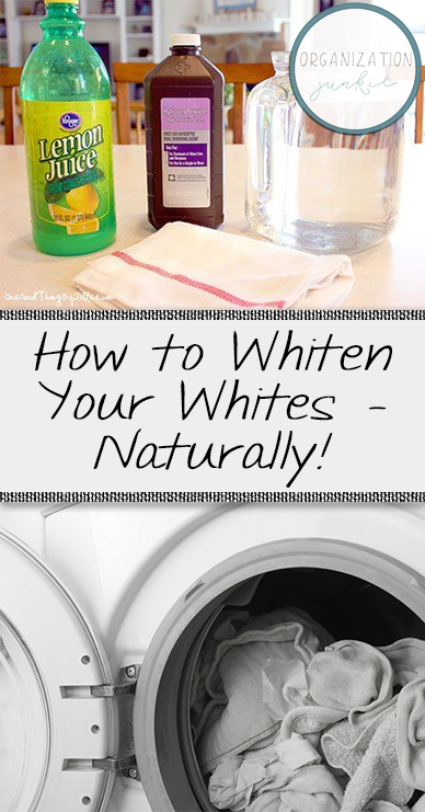 How to Whiten Whites, How to Naturally Whiten Your Whites, Laundry, Laundry Hacks, Laundry Tips, Clean, Clean Laundry, How to Naturally Whiten Dingy Clothes, Natural Laundry Detergent, Natural Bleach Alternatives, Popular Pin, How To Naturally Whiten White Clothes