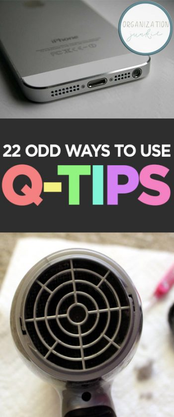 How to Use Q-Tips, Uses for Q-TIps, Weird Uses for Q-Tips, How to Use Q-Tips Around The House, Cleaning, Cleaning Tips, Life Hacks, Tips and Tricks, Popular Pin