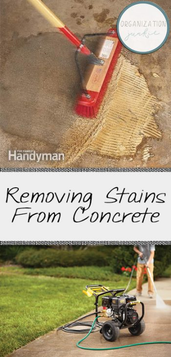 Concrete Stain Removal, Stain Removal Tips and Tricks, How to Remove Stains from Concrete, Clean, Clean Everything, Oil Stains on Driveway, How to Clean Oil Stains on Driveway, Popular
