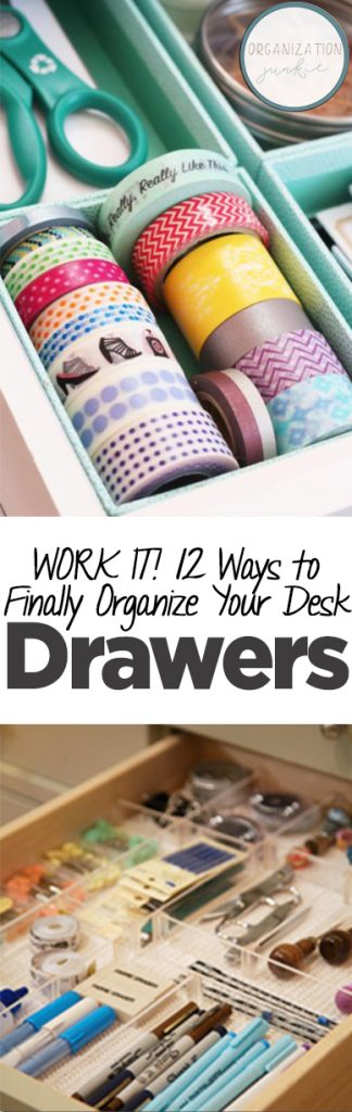 WORK IT! 12 Ways to Finally Organize Your Desk Drawers. Organization, Desk Organization, How to Organize Your Desk Drawers, Organization Hacks, Organization Tips and Tricks, Desk Organization, Desk Drawer Organization, Organization 101