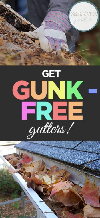 Get Gunk – Free Gutters! | How to Clean Your Gutters, Cleaning Tips, Gutter Cleaning TIps, How to Easily Clean Your Gutters, Outdoor Maintenance Projects, Fast Ways to Clean Your Gutters, Popular Cleaning Pin, Clean Home, Home Cleaning Tips and Tricks.