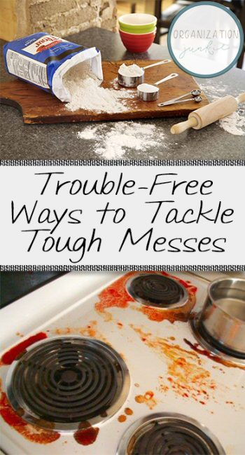 Trouble-Free Ways to Tackle Tough Messes. How to Clean Tough Messes, Tough Mess Cleaning Tips, Cleaning Tips, Cleaning Tips and Tricks, Cleaning, Cleaning 101, Cleaning Hacks, Clean Home, Home Cleaning Tips, Home Cleaning Tricks, Popular Pin
