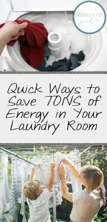 Quick Ways to Save TONS of Energy in Your Laundry Room  Laundry, Laundry Hacks, Get Laundry Done Faster, How to Get Laundry Done Fast, Home Organization, Home Organization Tips and Tricks, How to Make Doing Laundry More Fun, Popular Pin