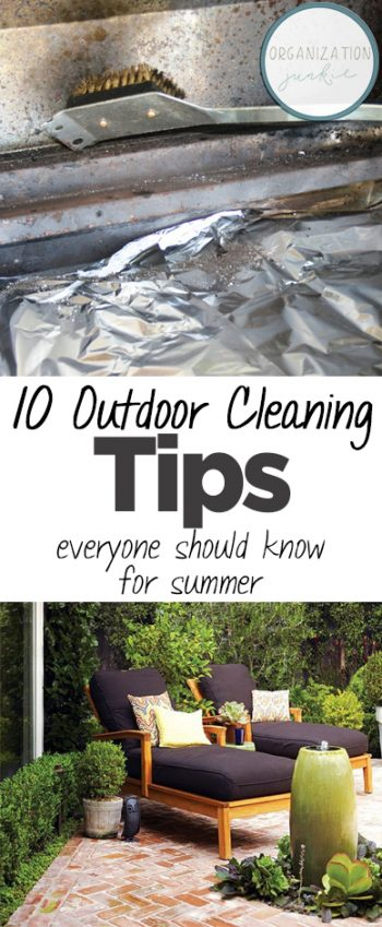 10 Outdoor Cleaning Tips Everyone Should Know for Summer| Cleaning Tips, Cleaning Tips and Tricks, Outdoor Cleaning Tips, Outdoor Hacks for SUmmer, Outdoor DIY, Outdoor DIY Projects, Clean Home, Clean Home Hacks, Popular Pin