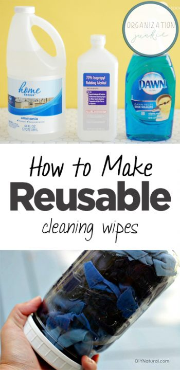 How to Make Reusable Cleaning Wipes| DIY Reusable Cleaning Wipes, How to Make Reusable Cleaning Wipes, Natural Cleaning Product Recipes, DIY Cleaning Products, Cool Cleaning Recipes, Popular Pin, Clean Home Hacks