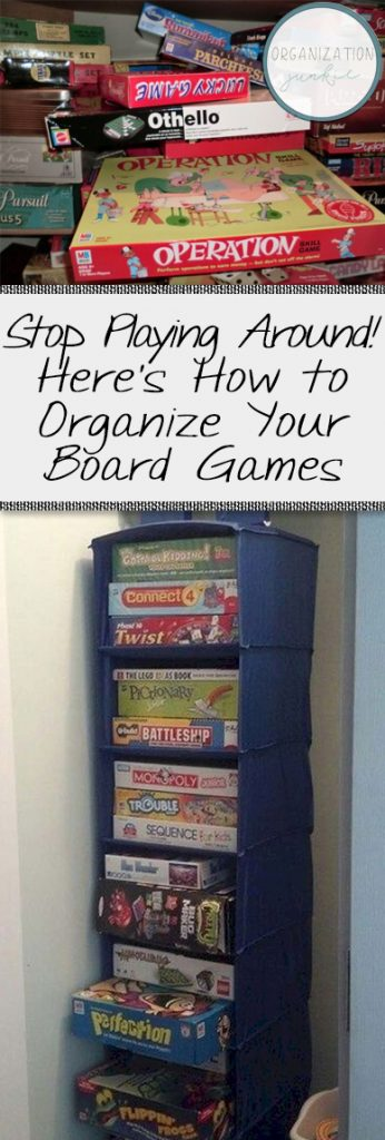 Stop Playing Around! Here's How to Organize Your Board Games| Organization, Home Organization, How to Organize Board Games, Simple Ways to Organize Board Games, Board Game Organization, DIY Board Game Organization, Popular Pin