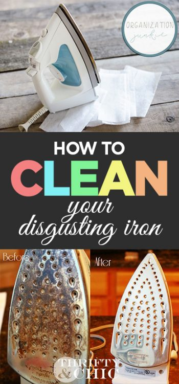 How to Clean Your Disgusting Iron| How to Clean Your Iron, Clean A Gross Iron, Clean Home, Clean Home Hacks, Home Cleaning Tips and Tricks, Cleaning Tips and Tricks, Popular Pin