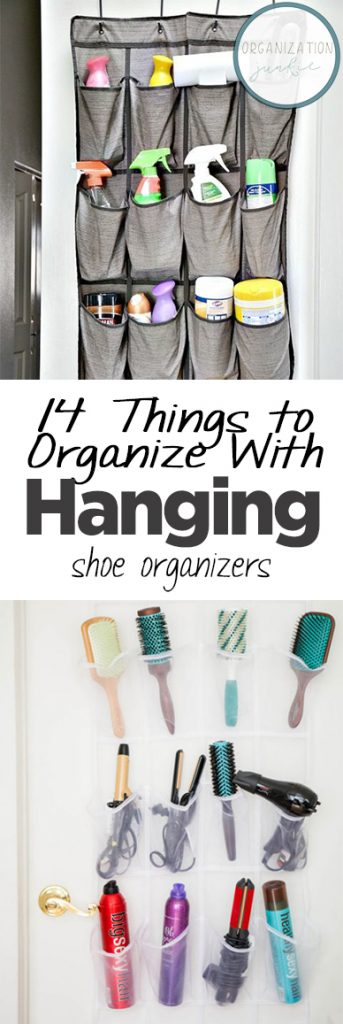 14 Things to Organize With Hanging Shoe Organizers| Organizers, Things to Organize With Shoe Organizers, DIY Organization, Organization Hacks, Organize Your Home, How to Organize Your Home, SImple Ways to Organize Your Home, Popular Pin