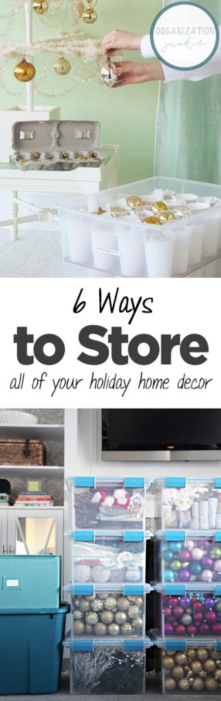 How to Store Holiday Home Decor, Home Organization, How to Organize Your Home Decor, Holiday Home Decor Storage, Home Storage Hacks.