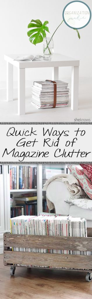 Quick Ways to Get Rid of Magazine Clutter| Declutter Your Home, Magazine Decluttering, Organize and Store Magazines, Magazine Storage, Magazine Storage Hacks, Popular Pin