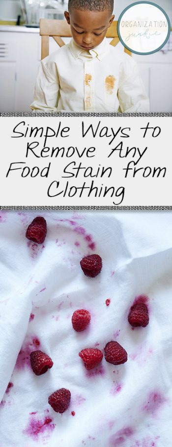 How to Remove Food Stains from Clothing, Removing Stains from Clothing, SImple Ways to Remove Stains, Laundry Hacks, Home Laundry Hacks, Save Your Stained Clothes