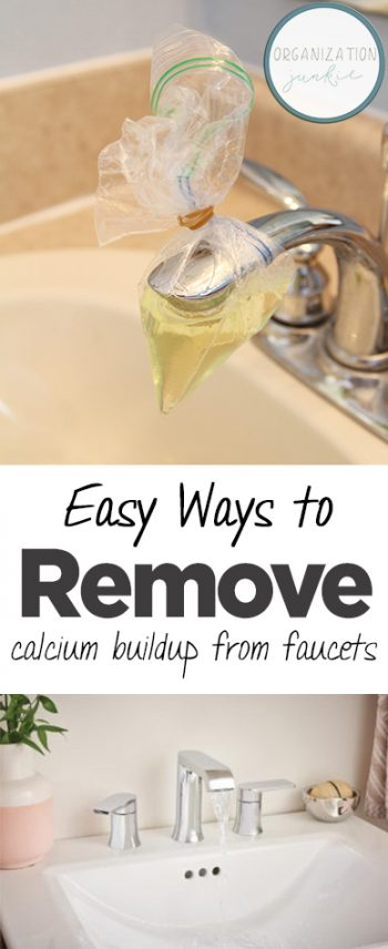 Easy Ways to Remove Calcium Buildup From Faucets| Calcium Buildup, Remove Calcium Buildup, How to Remove Calcium Buildup, DIY Clean, Cleaning, Cleaning Hacks, Bathroom Cleaning, Bathroom Cleaning Tips and Tricks. #Bathroom #BathroomCleaning #CleaningFaucets #CleanFaucets