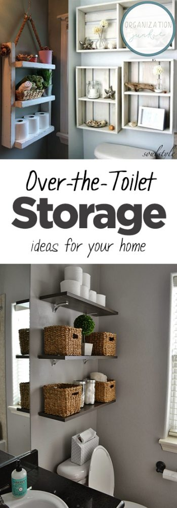 Over-the-Toilet Storage Ideas for Your Home| Storage Ideas, Bathroom Storage Ideas, Bathroom Storage, Organization and Storage, Bathroom Hacks. #Storage #BathroomStorage #Organization #Bathroom