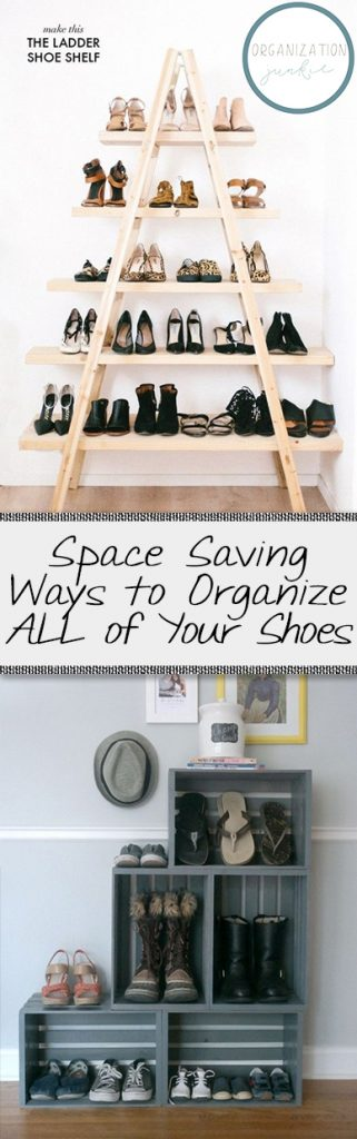 Space Saving Ways to Organize ALL of Your Shoes  Organize Your Shoes, How to Organize Your Shoes, Easily Organize Shoes, Closet Organization, Closet Organization Tips, Organization Tricks, Home Storage, Storage for the Home, Popular Pin