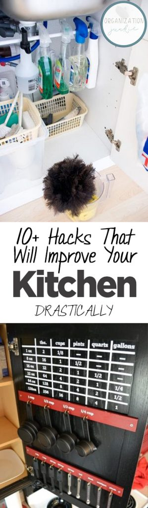 10+ Hacks That Will Improve Your Kitchen DRASTICALLY| Kitchen Hacks, Home Improvement Hacks, DIY Kitchen, DIY Kitchen Hacks, Kitchen Improvements, Kitchen Tips and Tricks, Popular Pin #Kitchen #KitchenImprovements #KitchenHacks #HomeHacks
