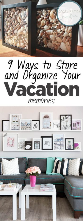 9 Ways to Store and Organize Your Vacation Memories| Home Organization, Home Organization Tips and Tricks, Storage Hacks, Storage Hacks for the Home, Home Storage, Popular Pin #Organization #HomeOrganization #StorageHacks