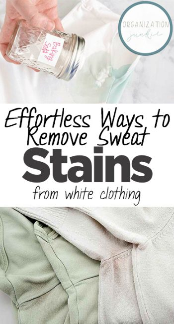 Effortless Ways to Remove Sweat Stains from White Clothing  Remove Stains from Clothing, How to Remove Stains from Clothing, Laundry, Laundry Hacks, Easy Laundry Hacks #Laundry #StainRemoval #DIYStainRemoval